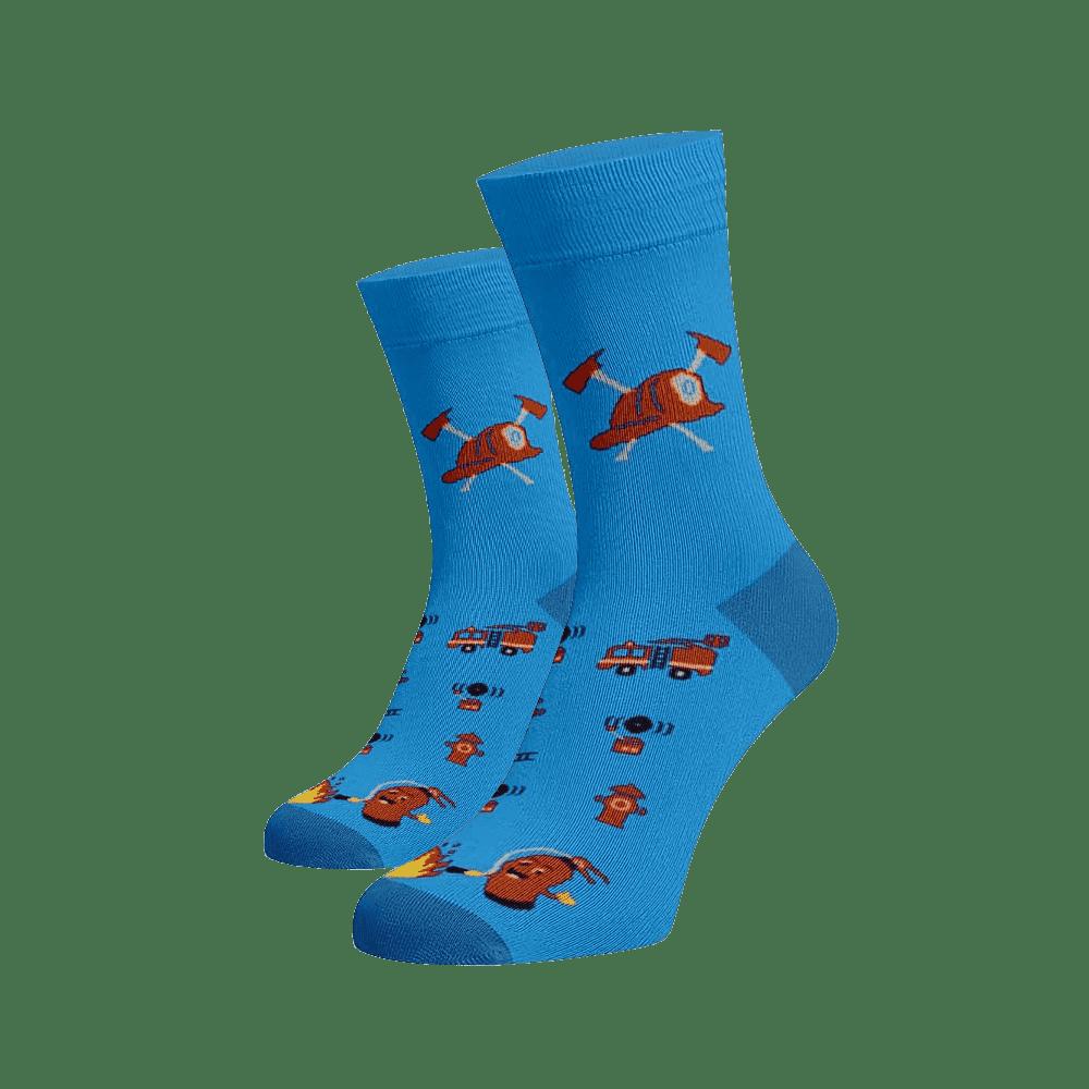 Veselé ponožky Hasiči Modrá Bavlna 35-38