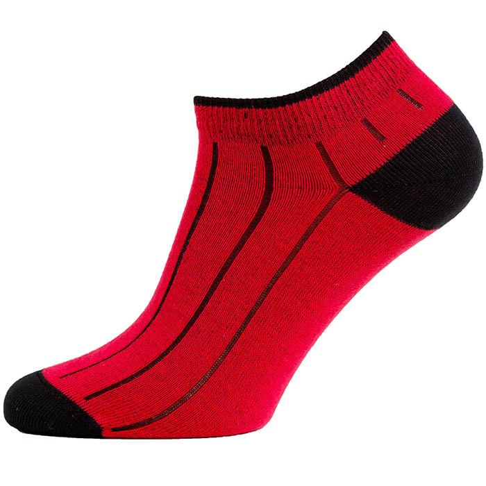 Levně Nízké ponožky Žebro kotník Červená 45-46