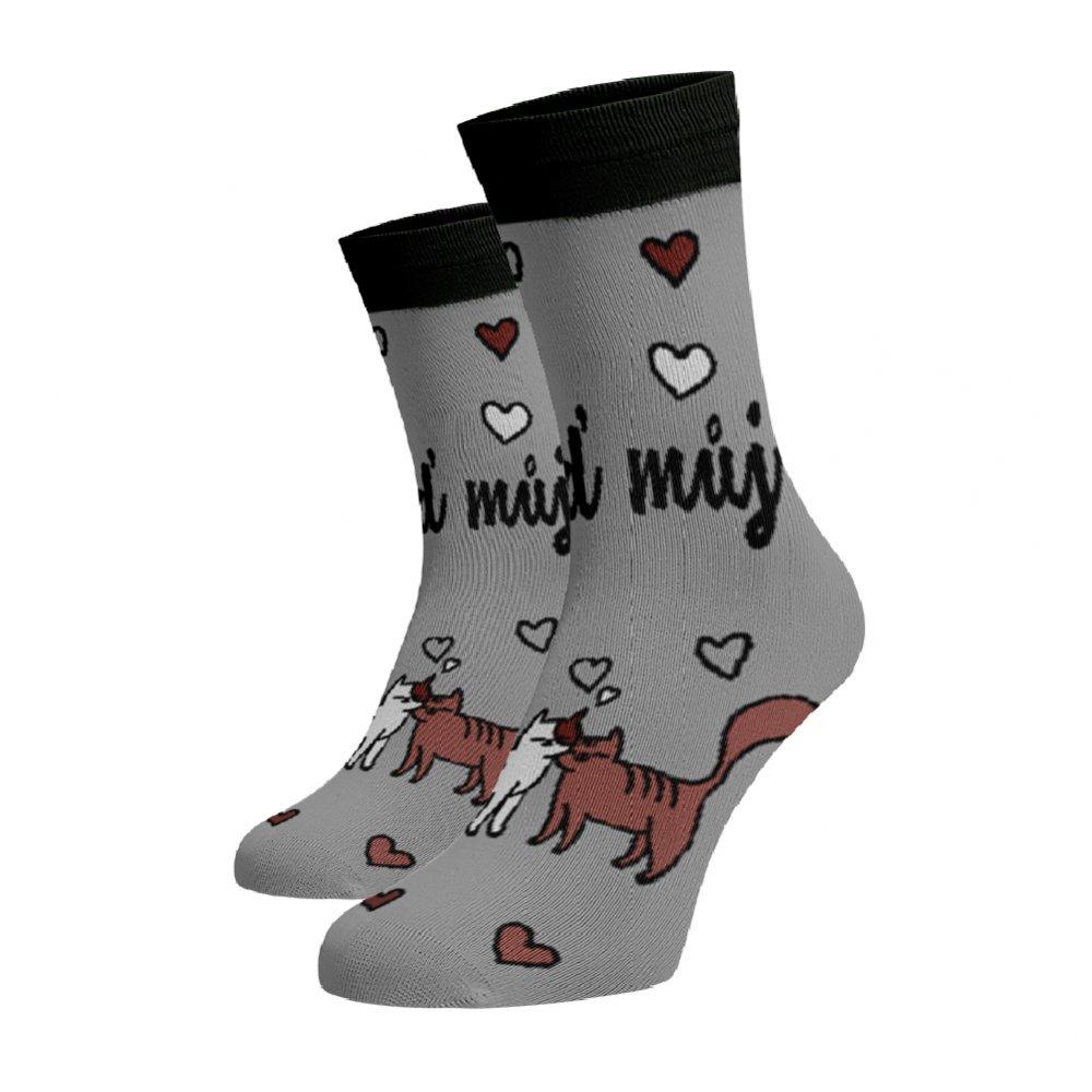 Levně Veselé ponožky Buď můj Šedá 45-46