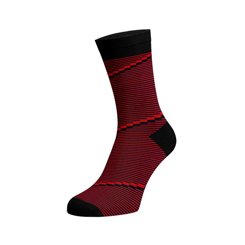 Levně Společenské ponožky Spirála Červená Bavlna 42-44