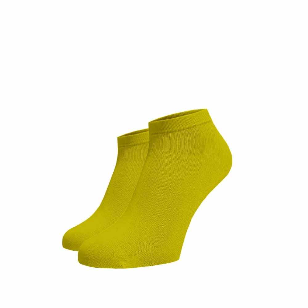 Levně Bambusové kotníkové ponožky Žluté Žlutá Bambus 35-38